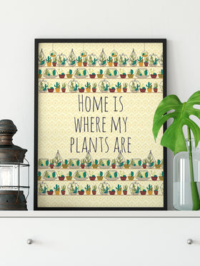 Crazy Plant Lady Art Print Wall Decor