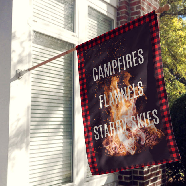 Campfire Nights Flag / Wall Hanging / Tapestry / Fall Decor / Decorations