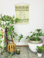 Home is Where My Plants Are Wall Hanging / Tapestry - Succulent and Cactus Art