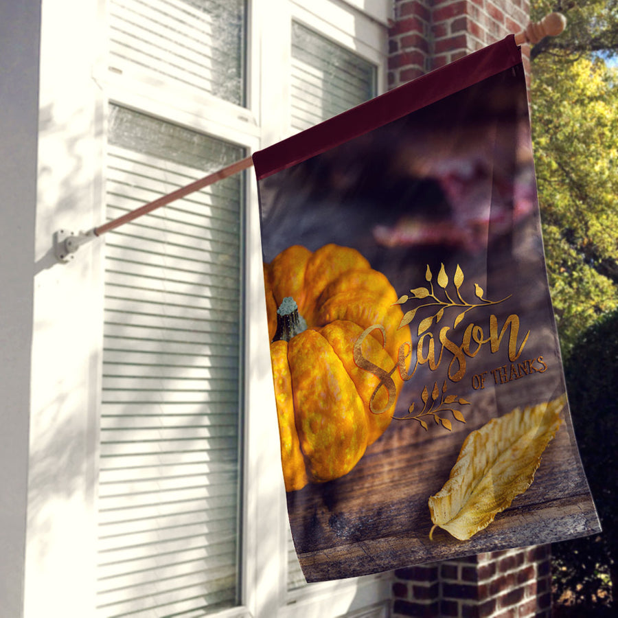 Season of Thanks Thanksgiving Outdoor House Flag