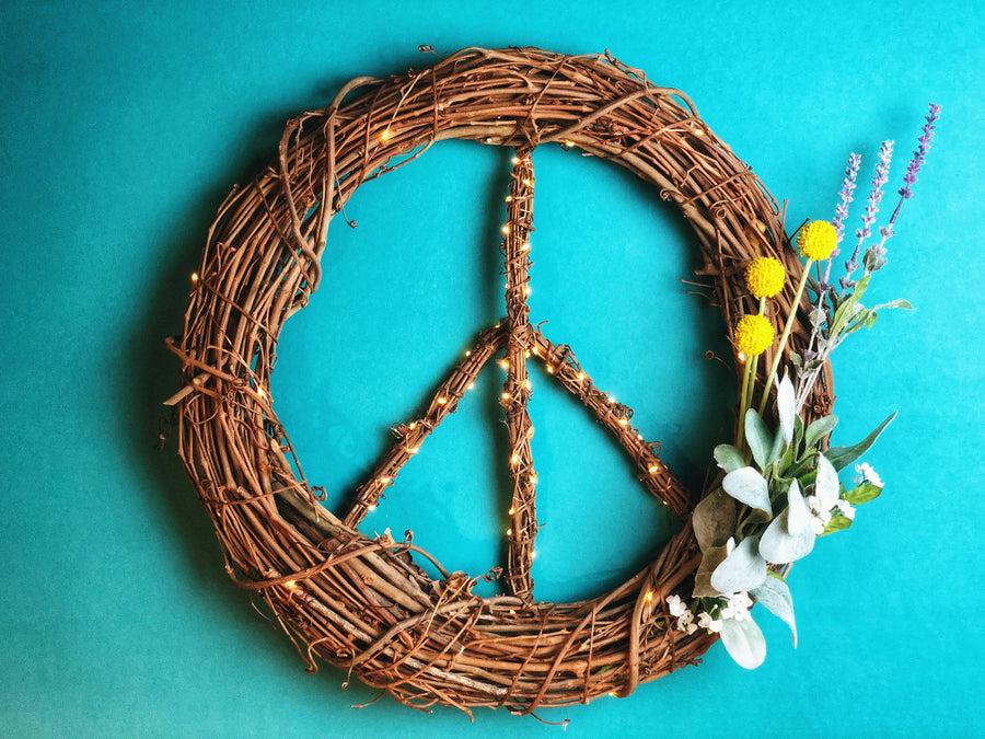 Spring Peace Wreath