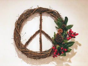 "SPECIAL EDITION - 24"" Holiday Peace Wreath"