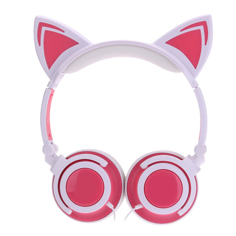 Cat headphones LED wired Flashing, Glowing Headset, Gaming headset ...