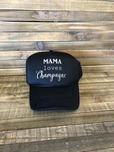 Mama Loves Champagne Hat