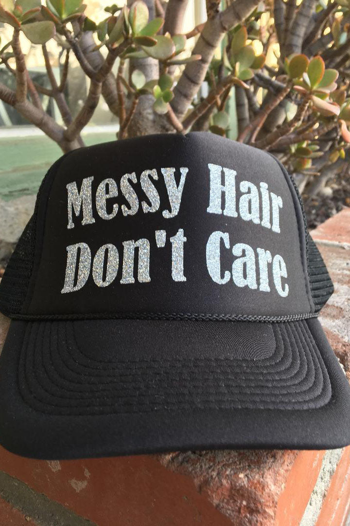 Messy Hair Don't Care Hat