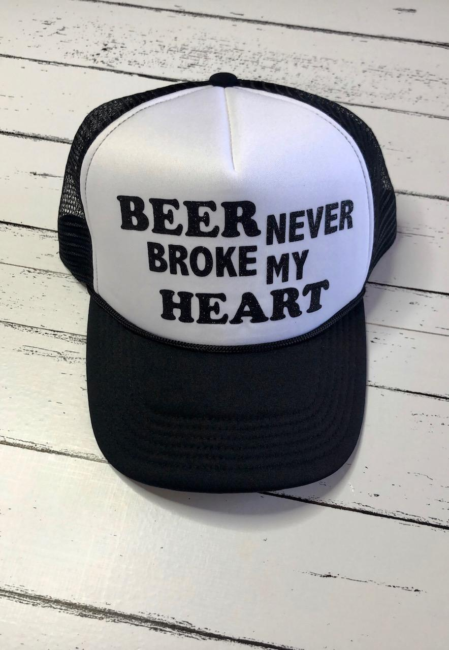 Beer Never Broke My Heart Hat