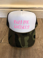 Load image into Gallery viewer, Buy Me Whiskey Trucker Hat