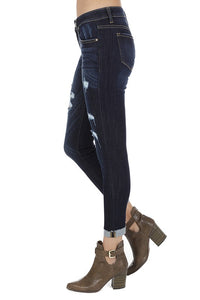 Over And Over Again Low Rise Ankle Skinny Jeans