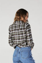 Load image into Gallery viewer, Apple Pickin' Tie Plaid Top
