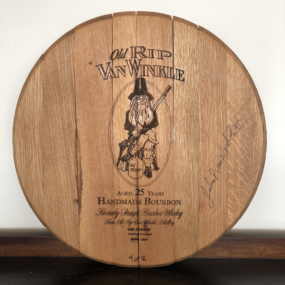 Pappy Van Winkle Gives Back: 25 Year Barrel Head Auction