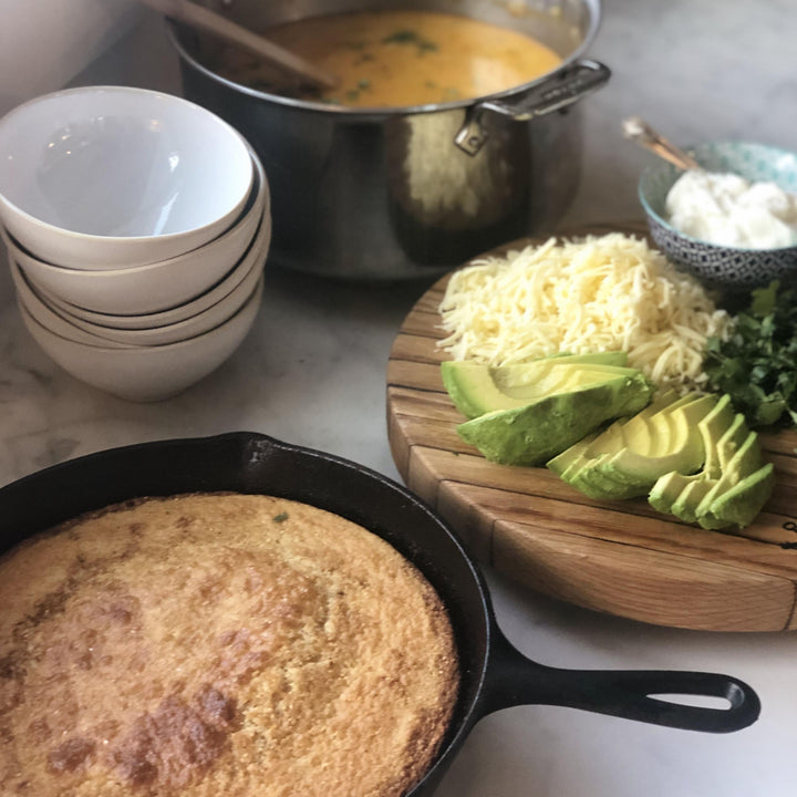 Sunday Supper Recipes: White Chicken Chili & Skillet Cornbread
