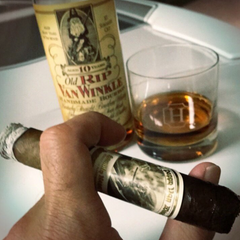 Cigars & Old Rip Van Winkle Bourbon