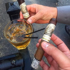 Cigars & Bourbon at Wedding
