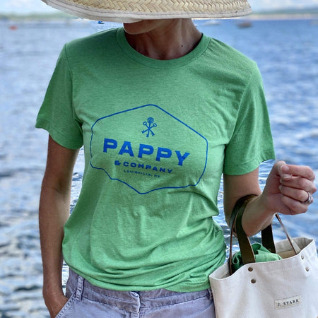 Unisex T-shirt Pappy & Company Enclosed Logo in Green Tri-blend