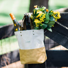 J. Stark Two-Tone Canvas Wine Tote