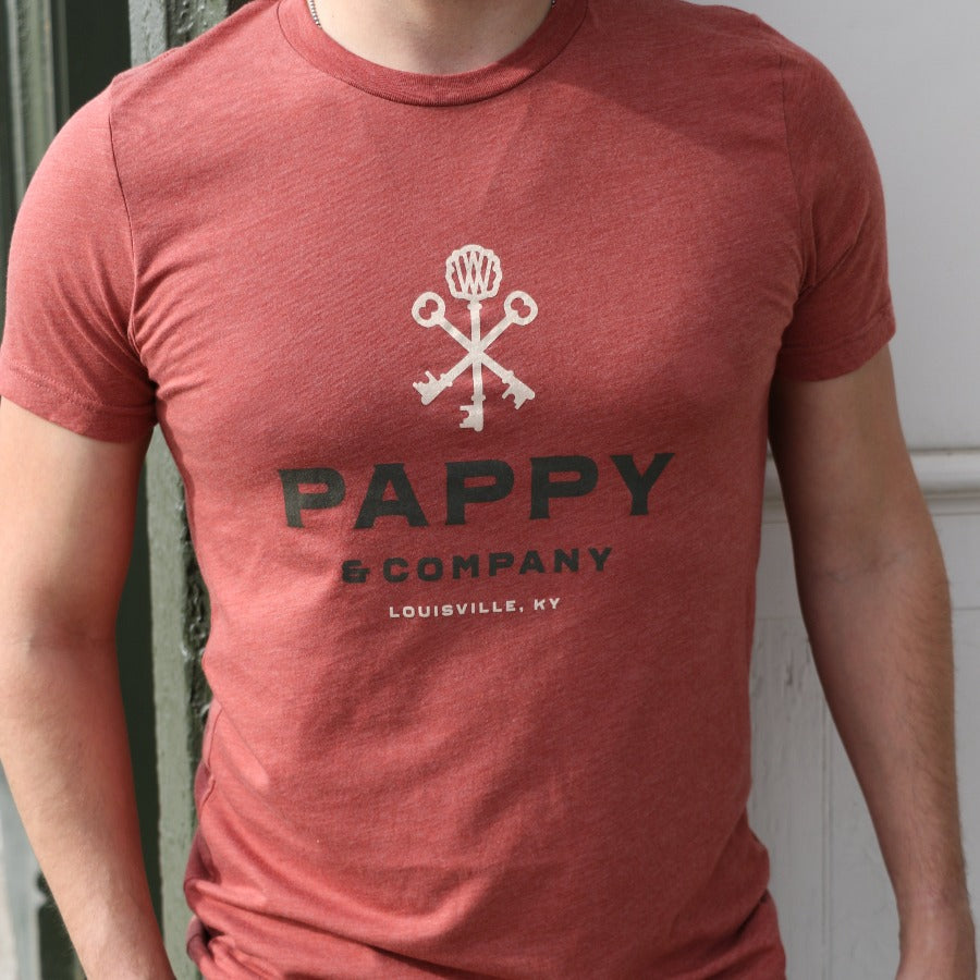 Unisex T-shirt Pappy & Company in Clay Tri-blend