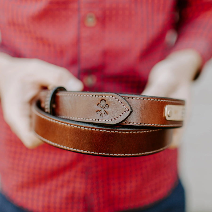 Pappy & Company Bridle Nameplate Belt