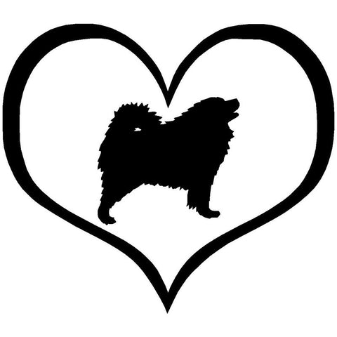 Samoyed Heart Car Sticker