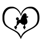 Poodle Heart Car Sticker