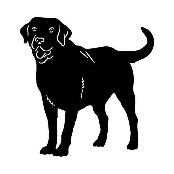 Standing Labrador Retriever Car Sticker