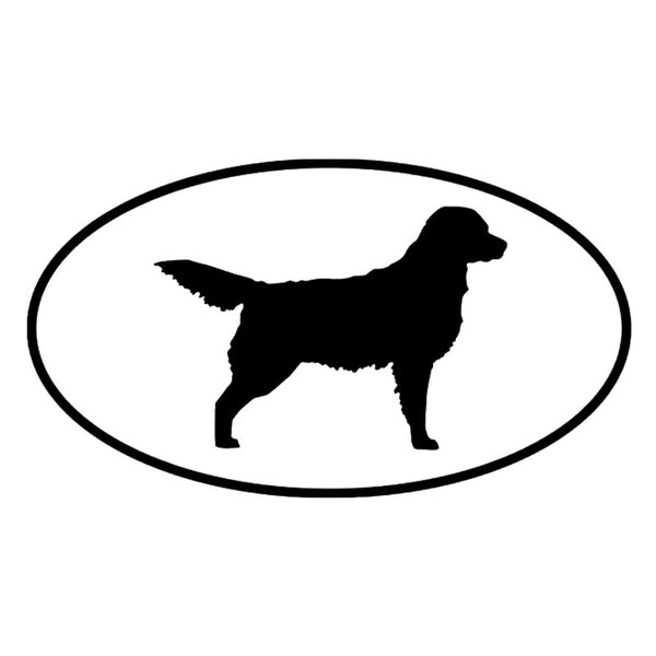 Oval Golden Retriever Car Sticker