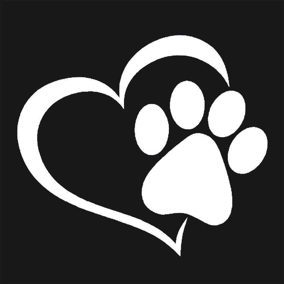 Dog Paw Print Window Car Sticker – The Top Dog Deals