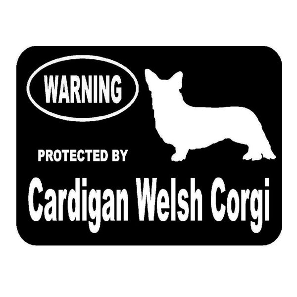 Protected By Cardigan Welsh Corgi Car Sticker