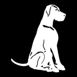 Sitting Great Dane Car Sticker