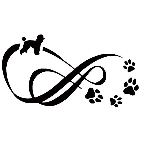 Infinity Poodle Vinyl Decal Car Sticker