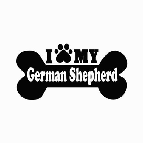 I Love My German Shepherd Car Sticker