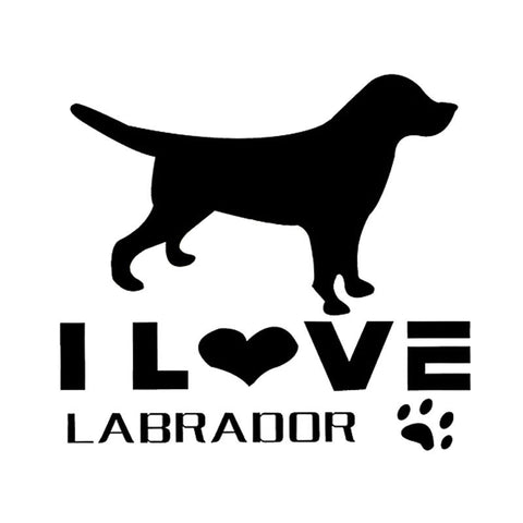 I Love Labrador Labrador Retriever Car Sticker
