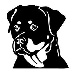 Rottweiler Head Car Sticker