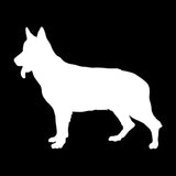 Silhouette German Shepherd Car Sticker