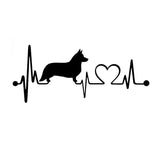 Welsh Corgi Heartbeat Car Sticker