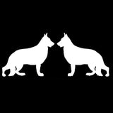 Two German Shepherds Car Sticker