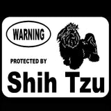Protected By Shih Tzu Vinyl Car Sticker