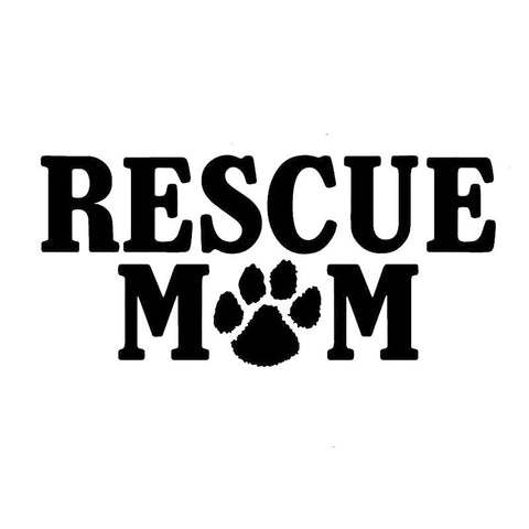 Rescue Mom Paw Print Car Sticker
