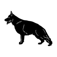 German Shepherd Profile Car Sticker