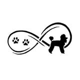 Infinity Poodle Car Sticker