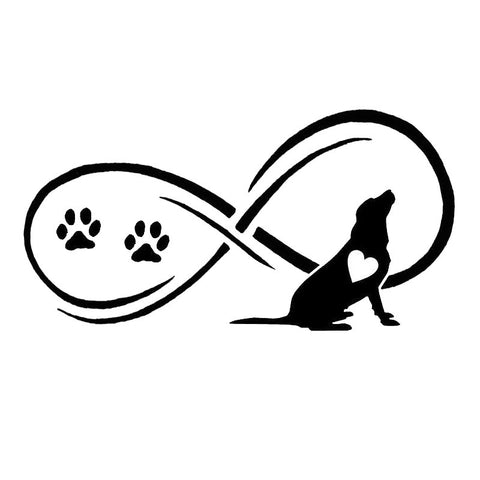 Infinity Labrador Retriever Car Sticker