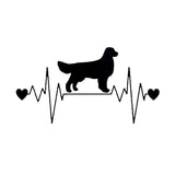 Golden Retriever Heartbeat Car Sticker