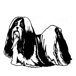 Lovely Shih Tzu Car Sticker