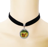 Black Velvet Ribbon Golden Retriever Chunky Choker