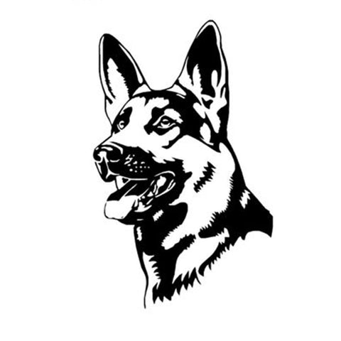 German Shepherd Head Car Sticker