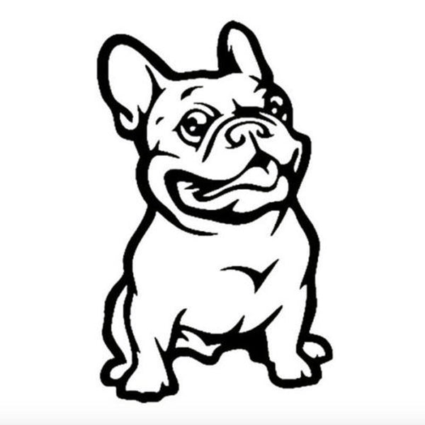 Funny French Bulldog Car Sticker
