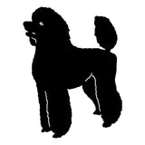 Standing Poodle Car Sticker