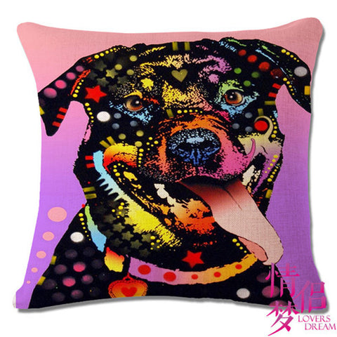 Dazzling Spotted Rottweiler Throw Pillow Case