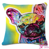 Dazzling Spotted French Bulldog Throw Pillow Case