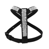 Rhinestone Soft Suede Leather Harness