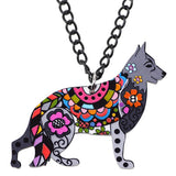 German Shepherd Dress Necklace